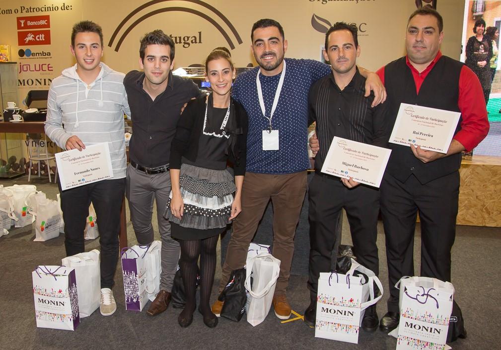 Finalistas: Fernando Nunes, Rui Carvalho, Verónica Cabeceira, David Coelho, Miguel Barbosa e Rui Pereira © Drinks Diary